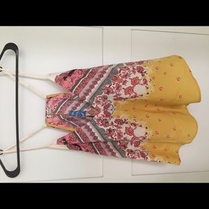 Free People Patterned Camisol Tank Top